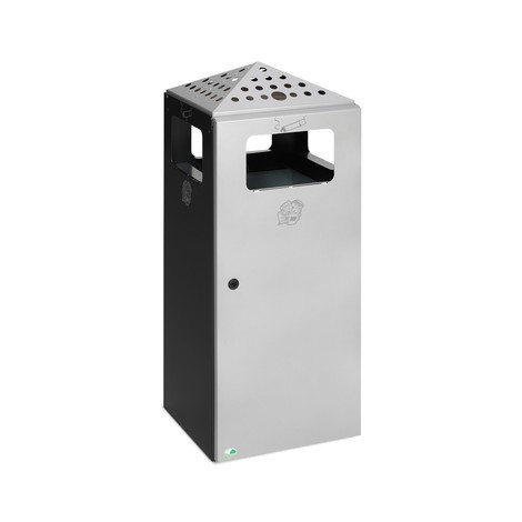 Ascher-Abfall-Kombination VAR®, mit gelochtem Dach