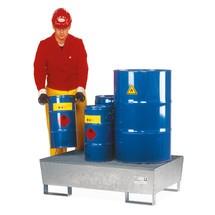 Asecos® Catch bacino in acciaio, scarpette per carrelli elevatori