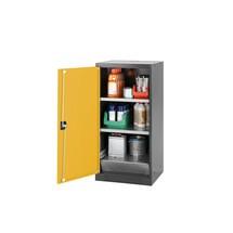 Asecos® chemische en giftige garderobe met planken, HxBxD 1.105 x 545 x 520 mm