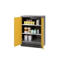 Asecos® chemische en giftige garderobe met planken, HxBxD 1.105 x 810 x 520 mm