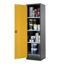 Asecos® chemische en giftige garderobe met planken, HxBxD 1.950 x 545 x 520 mm