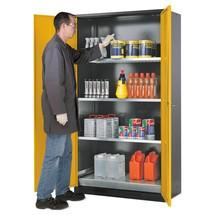 Asecos® szafka chemiczno-toksyczna z półkami, wys. wys. x szer. x gł.. 1,105 x 1,55 x 520 mm