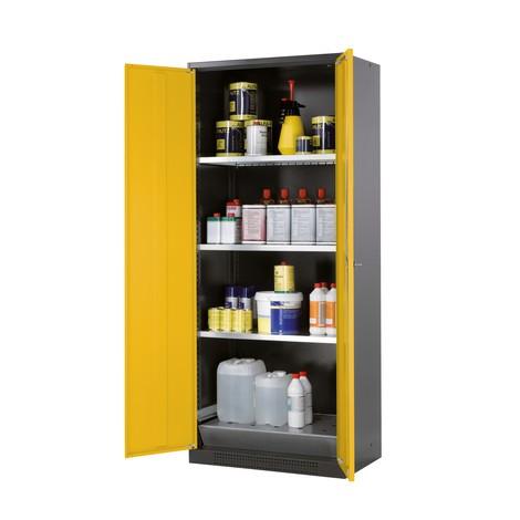 Asecos® szafka chemiczno-toksyczna z półkami, wys. x szer. x gł. 1 950 x 810 x 520 mm