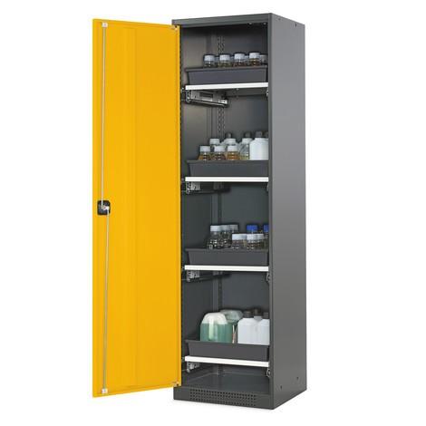 Asecos® szafka chemiczno-trucizna z szufladami na tacę, wys. wys. x szer. x gł.. 1 950 x 545 x 520 mm