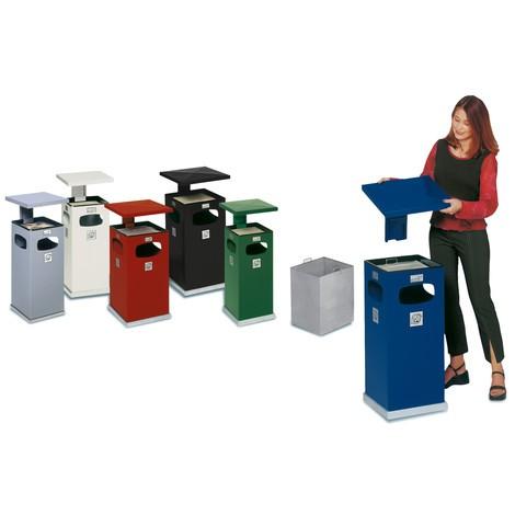 Askkopp VAR® för golvmontering, kombimodell