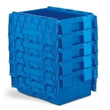 Återanvändbara-stapelbehållare av polypropylen inklusive etikettfack