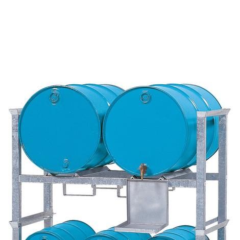 Aufbauregal asecos® für Fässer