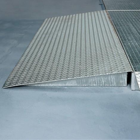 Auffahrrampe für Flachwannen aus Stahl