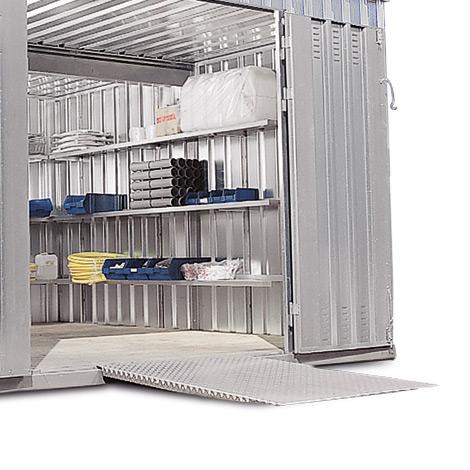 Auffahrrampe für Lagercontainer, LxB 1465x870 mm