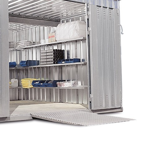 Auffahrrampe für Materialcontainer