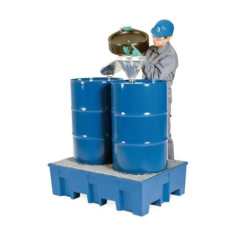 Auffangwanne asecos® aus PE, für max. 2x 200-Liter-Fässer