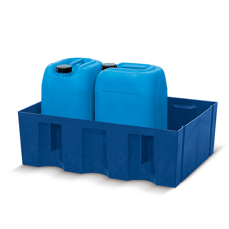 Auffangwanne aus Polyethylen für 60l-Fässer. Bis 60 l