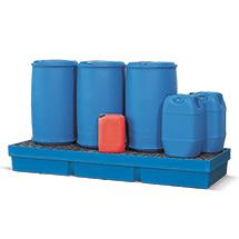 Auffangwanne aus Polyethylen. Für bis zu 4 x 200l-Fässer, Auffangvolumen 405 l