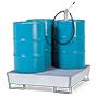 Auffangwanne aus Stahl, Staplerschuhe. 2 - 4 x 200l Fässer. Auffangvolumen 200l