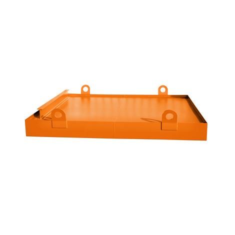 Auffangwanne für Container, HxBxT 560 x 2.800 x 2.027 mm, Auffangvolumen 1.078 l