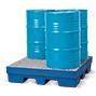 Auffangwanne Polyethylen, unterfahrbar. Bis 4x200l-Fässer, Auffangvolumen 225l