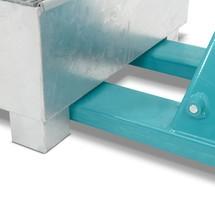 Auffangwanne Steinbock® aus Stahl für 200-Liter-Fässer, inkl. Gitterrost, feuerverzinkt