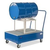 Auffangwanne Steinbock® für 200-Liter-Fässer, verfahrbar