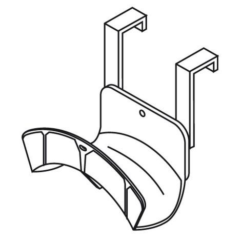 Aufhängung für Kabel und Schläuche für Materialcontainer