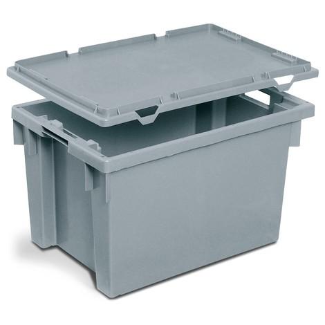 Auflagedeckel für Stapelbehälter, Wände + Boden geschlossen/durchbrochen
