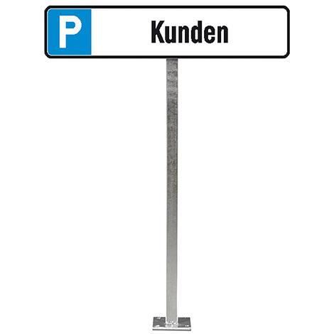 Aufstellpfosten für Parkplatz-Schilder 52x11cm