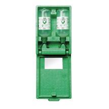 Augenspülstation plum DUO in staubdichter Wandbox mit Spiegel