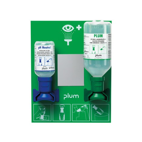 Augenspülstation plum Notfallstation mit Spiegel