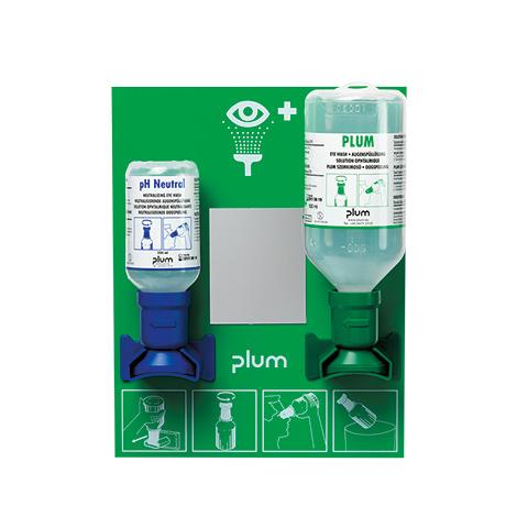 Augenspülstation Wandstation inkl. Natriumchlorid- und Phosphatpufferlösung