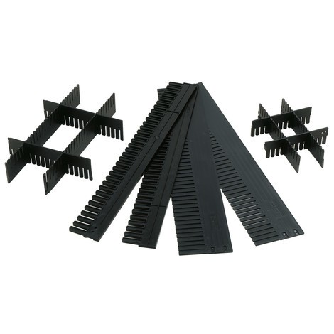 Avdelare för lagring slådor med öppen front av polystyren