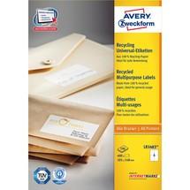 AVERY® Zweckform Recycling Universal-Etiketten für Inkjet + Laser + Kopierer + Farblaser