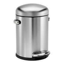 Avfallsbehållare i rostfritt stål 4,5 liter