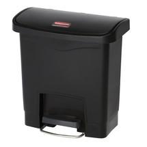 Avfallsbehållare Rubbermaid Slim Jim® med pedal på bredsidan, plast