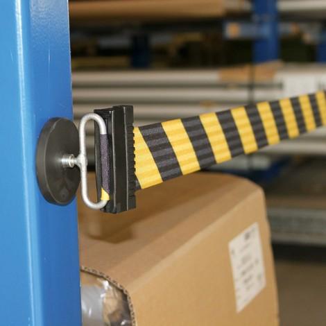 Avspärrnings-väggbälte L med magnetiskt ändstycke, längd 3,7 m