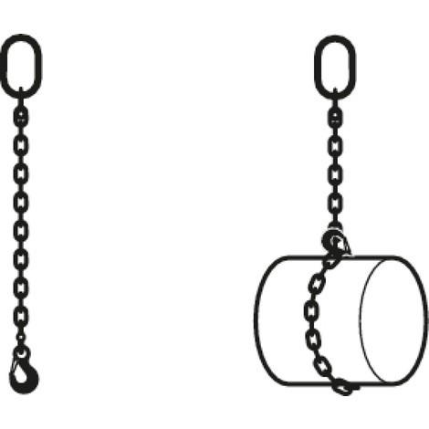 B-Ware Anschlagkette PFEIFER, einsträngig, Nenndicke 8 mm, Nutzlänge 1 m
