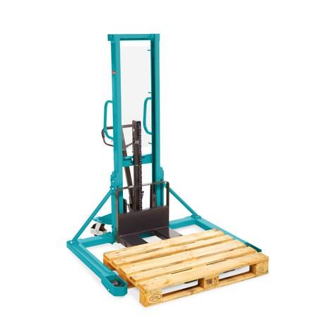 B-Ware Breitspur-Hydraulik-Stapler Ameise® PSM 1.0 mit Einfach-Mast, Hubhöhe 1.600 mm, Tragkraft 1.000 kg