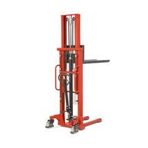 B-Ware Hydraulik-Stapler BASIC mit Teleskop-Mast - Tragkraft 1.000 kg, Hubhöhe 2.000 mm