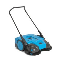 B-Ware Kehrmaschine Steinbock® Turbo Premium, manuell, Kehrbreite 770 mm, RAL 5015 himmelblau
