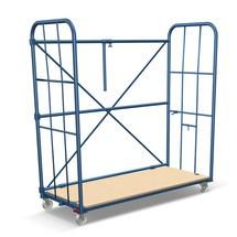 Bac à roulettes pour meubles avec grilles latérales et traverse arrière