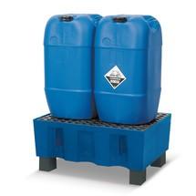 Bac de rétention pour bidons de 60 litres, sur pieds