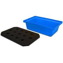 Bac de rétention pour petits contenants en PE