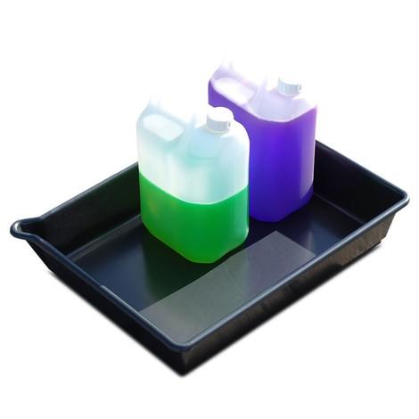 Bac de rétention pour petits contenants en PE, noir
