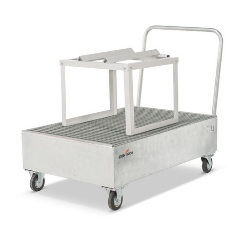 Bac de rétention Steinbock® pour fûts de 200 litres, mobile