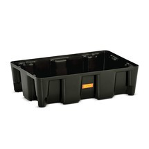 Bac labo modulaire CEMO en PE pour le stockage de petits contenants