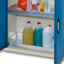 Bac-support pour armoire écologique C+P, certifié selon § 19 de la loi allemande sur la protection des eaux