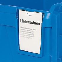 Bacs empilables réutilisables en polypropylène, avec cartouche à étiquette