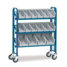 Bakkenwagen fetra® 2-zijdig. Inclusief 52 bakken. 4 etages, capaciteit 300 kg