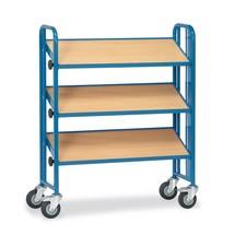 Bakkenwagen fetra® 2-zijdig voor eurobakken. 4 etages, capaciteit 300 kg