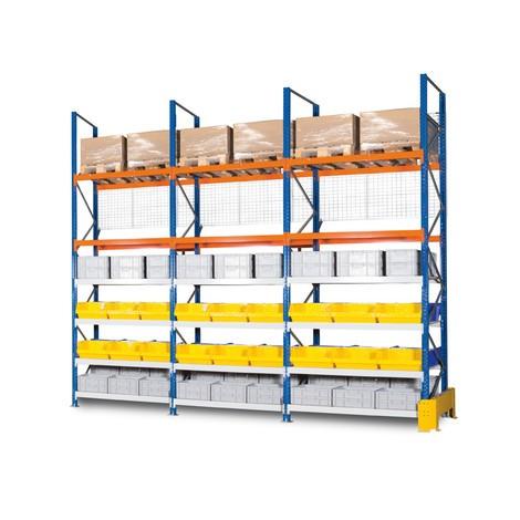 Bakre panelgaller för breda spänn- och lastpallställ, grundsektion