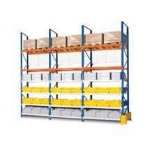 Bakre panelgaller för breda spänn- och lastpallställ, påbyggnadssektion