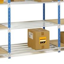 Balda para estantería de cargas pequeñas, azul cielo/gris claro